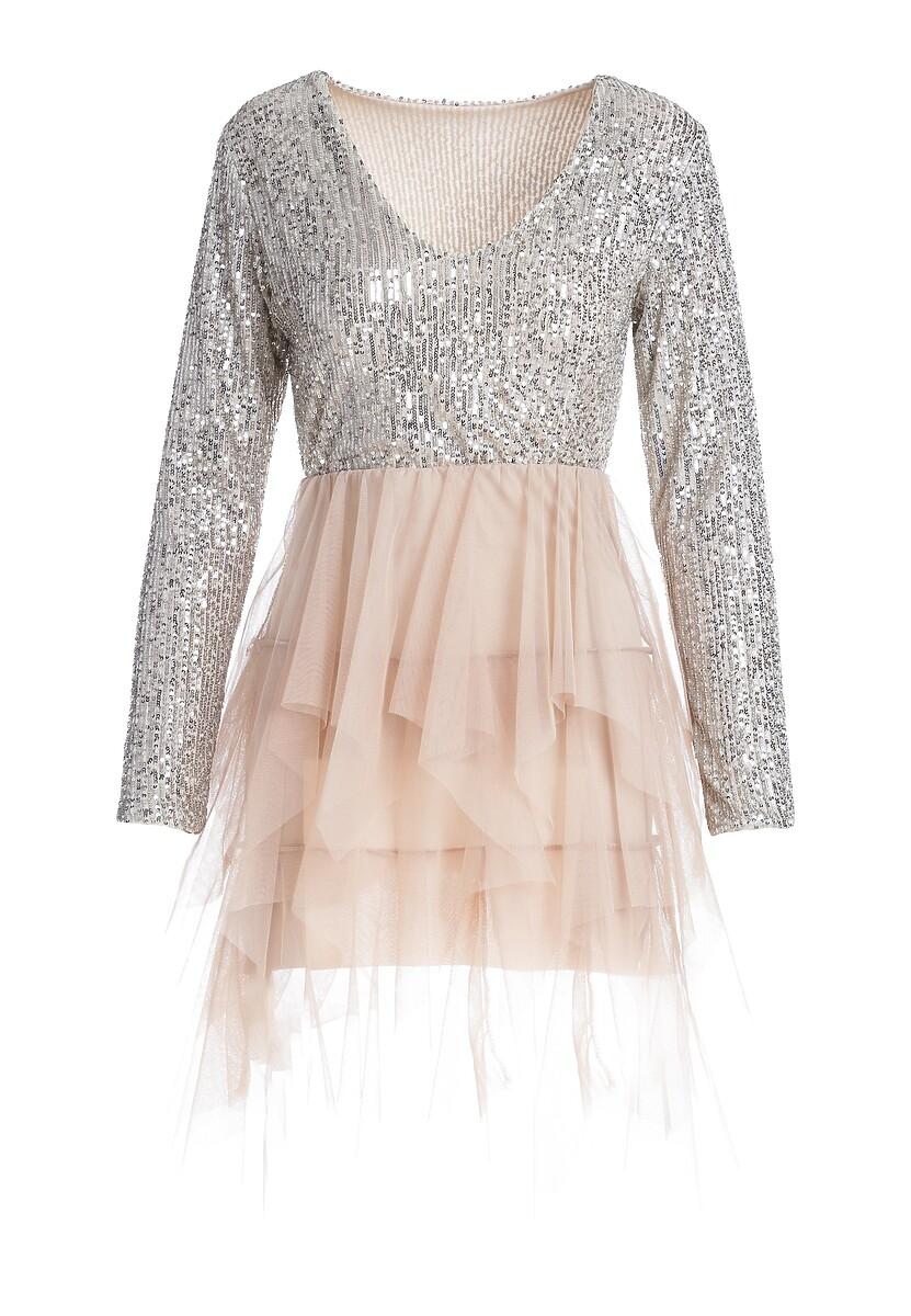 Beżowa Sukienka Burrville