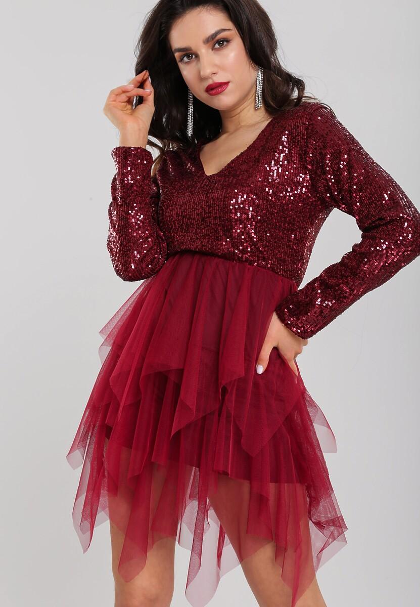 Bordowa Sukienka Burrville