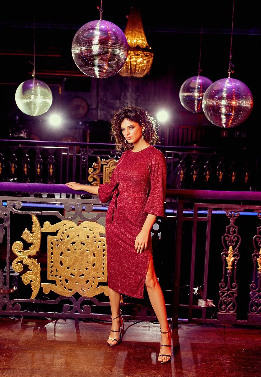 Bordowa Sukienka Chavez