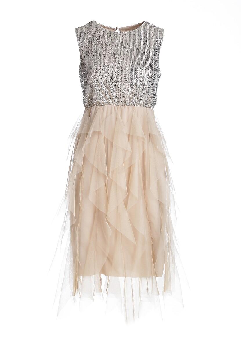 Kremowa Sukienka Jennings