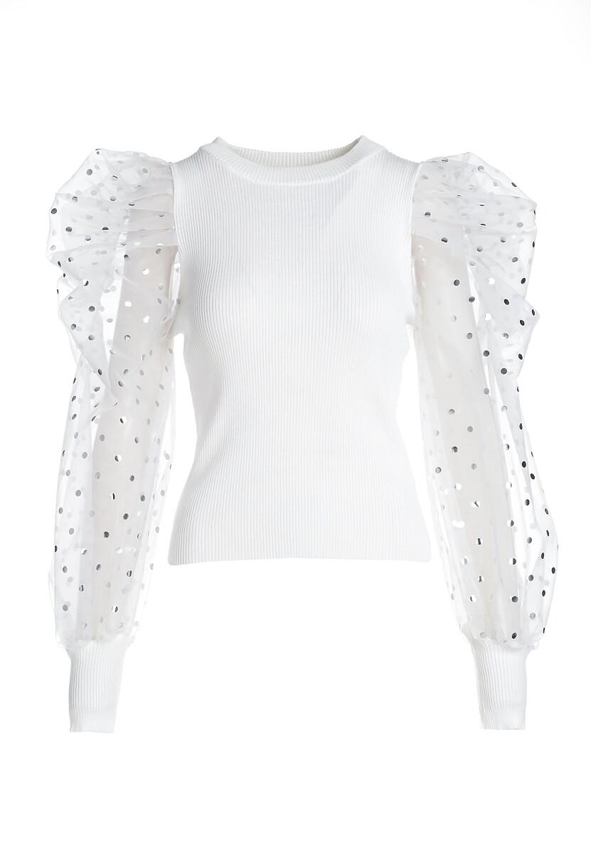Biały Sweter Salgado
