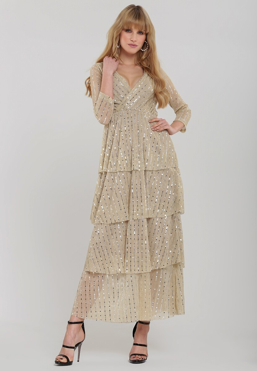 Beżowa Sukienka Queta