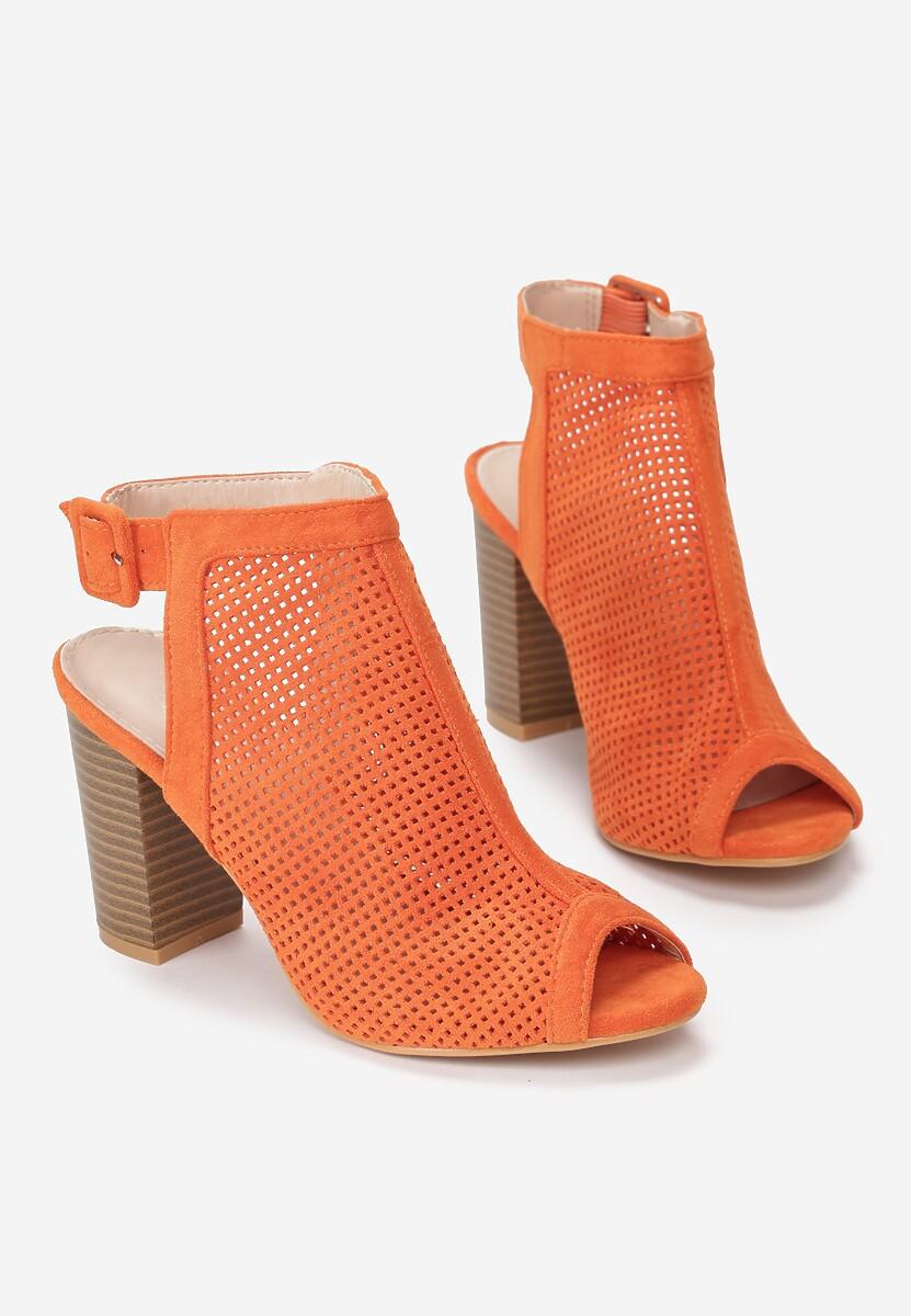 Pomarańczowe Sandały Brandy