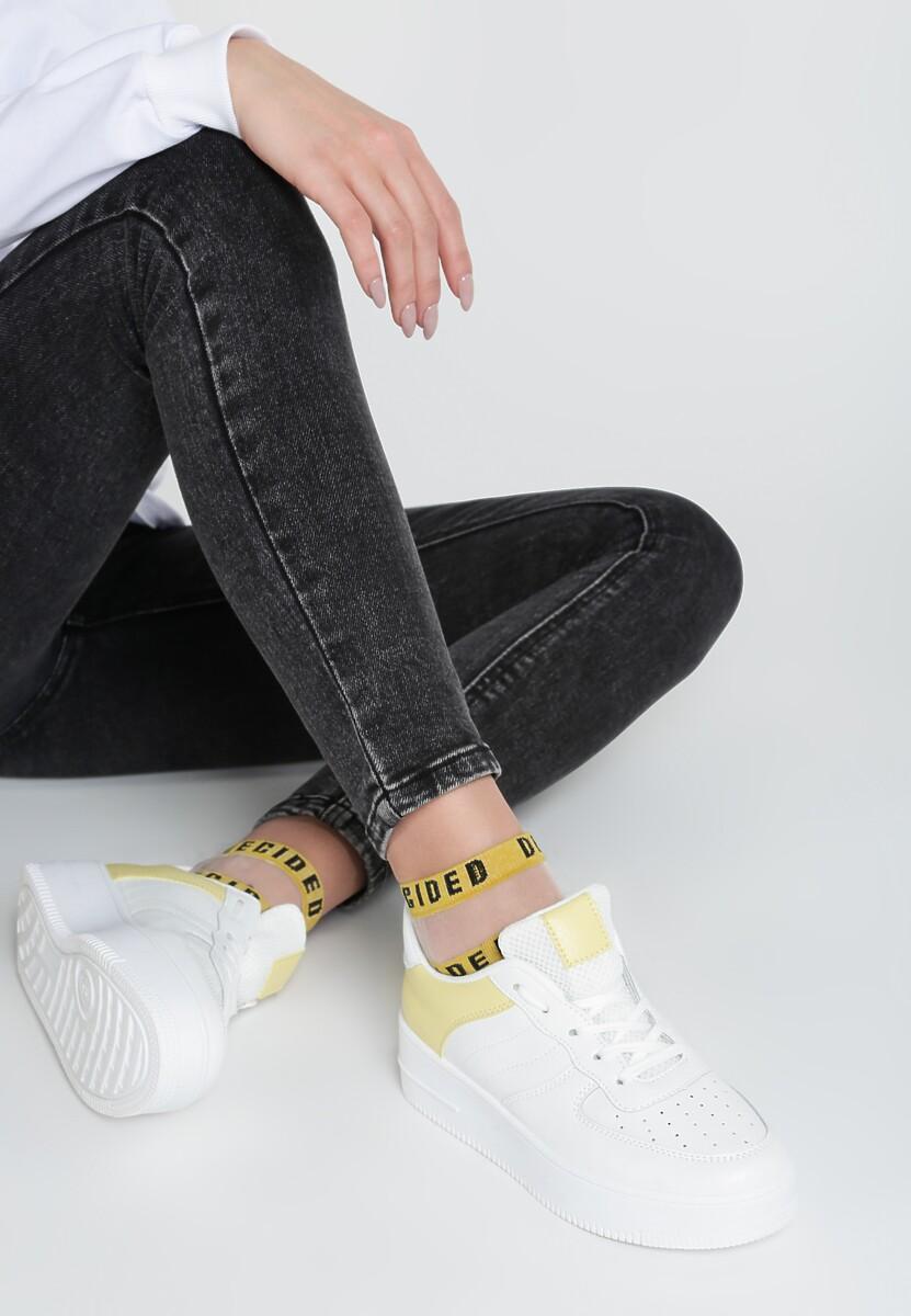 Biało-Żółte Sneakersy Farah