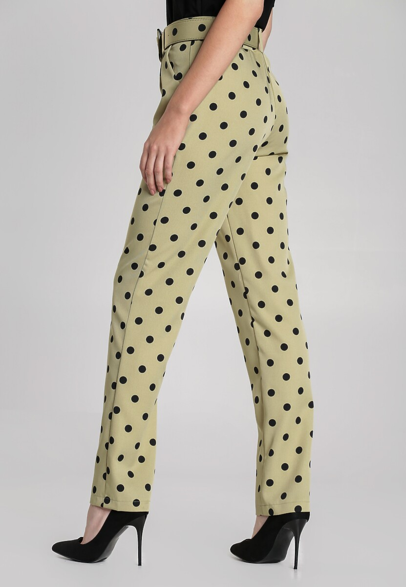 Jasnozielone Spodnie Corrina