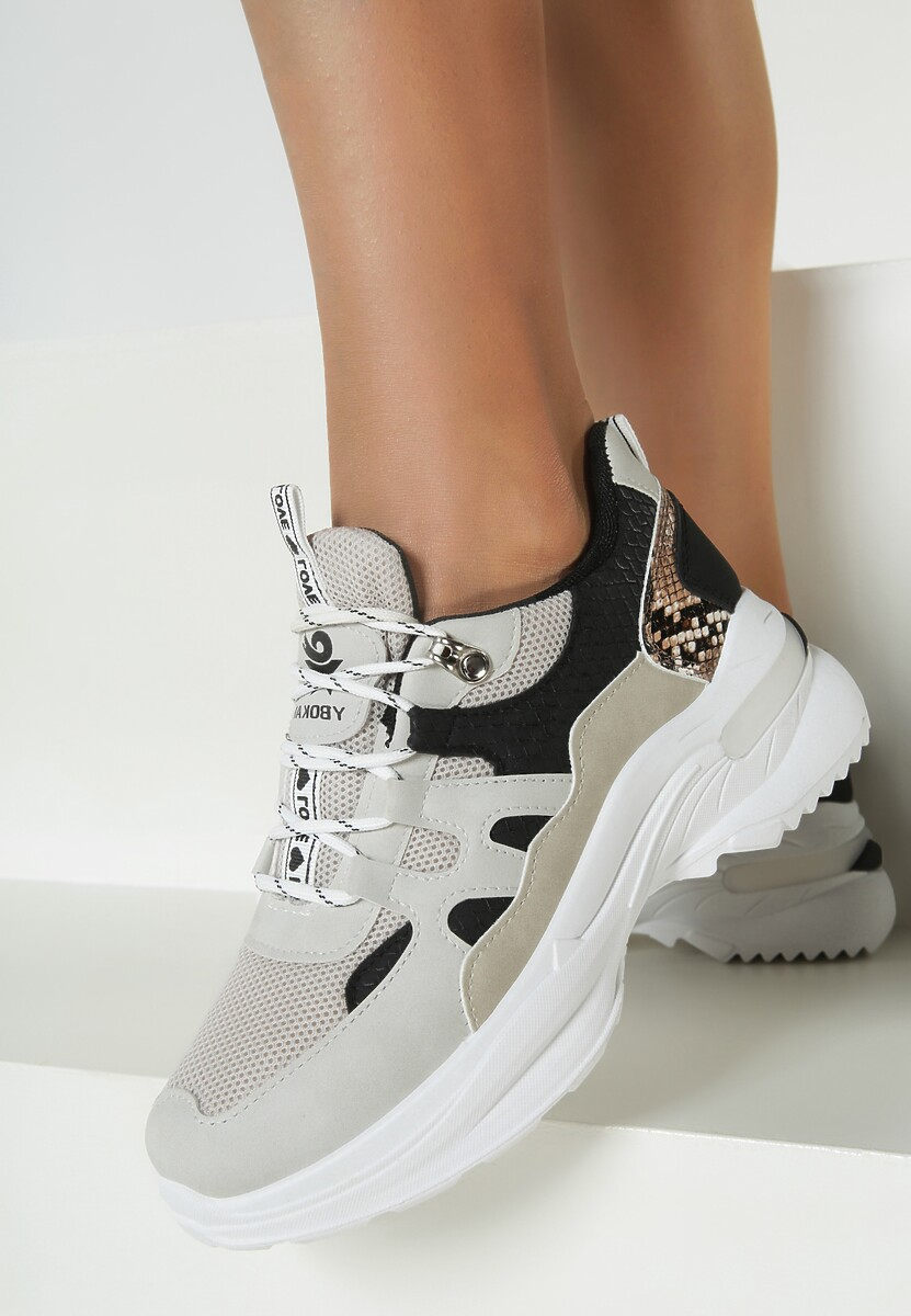 Beżowe Sneakersy Hendrix