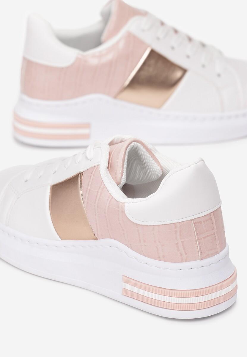 Biało-Różowe Sneakersy Shanon