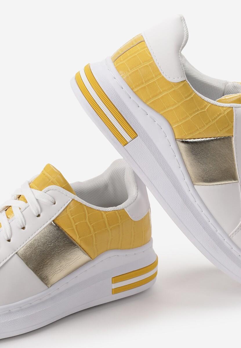 Biało-Żółte Sneakersy Shanon