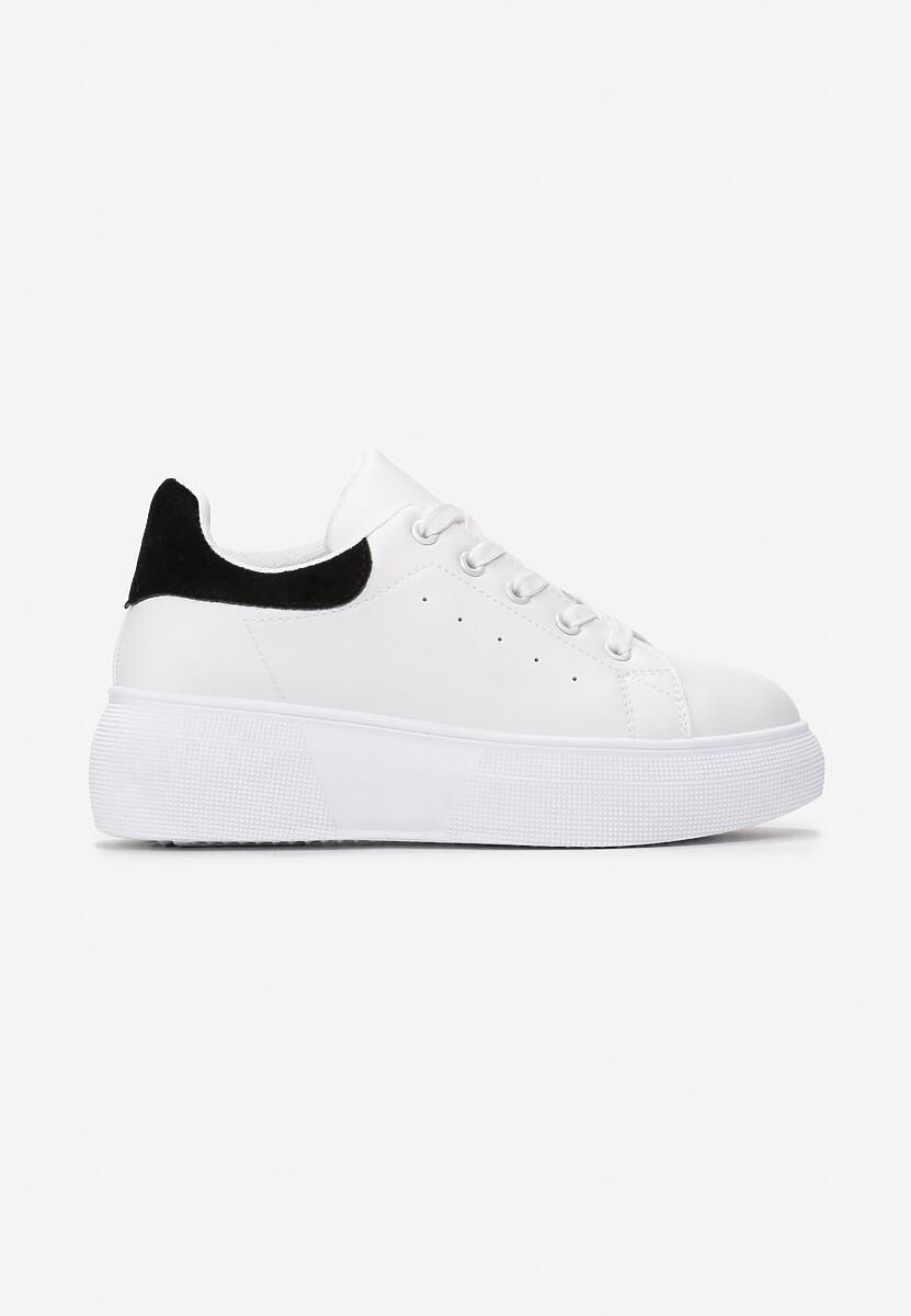 Biało-Czarne Sneakersy Amiee