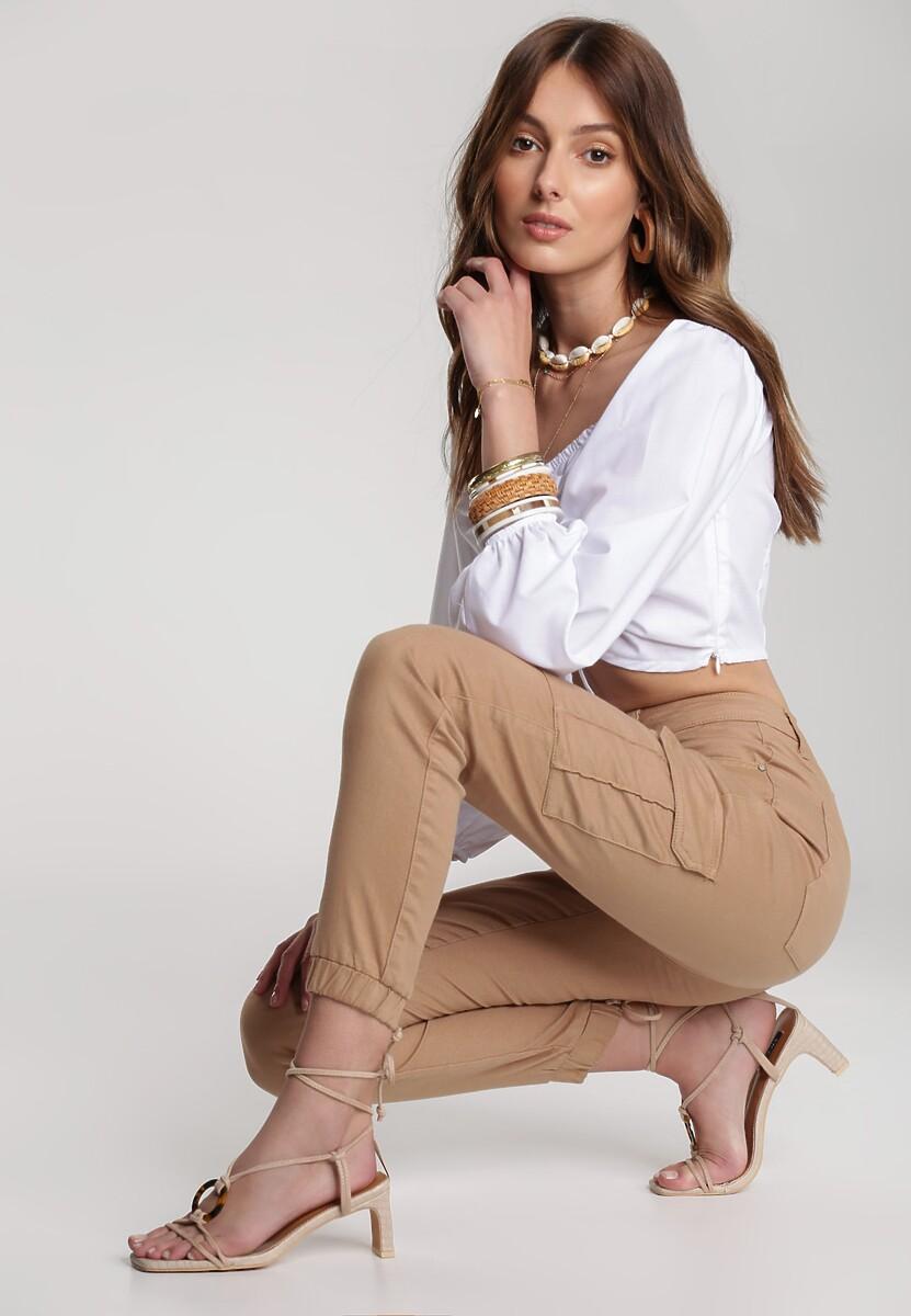 Beżowe Spodnie Anayah