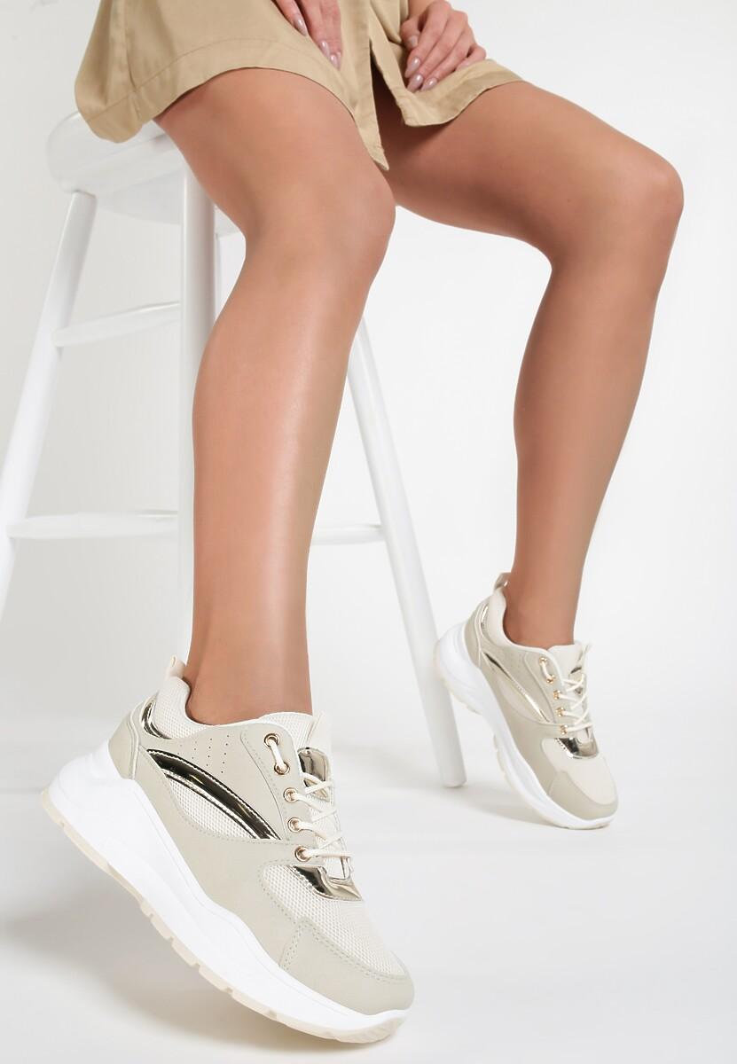 Beżowe Sneakersy Pollard