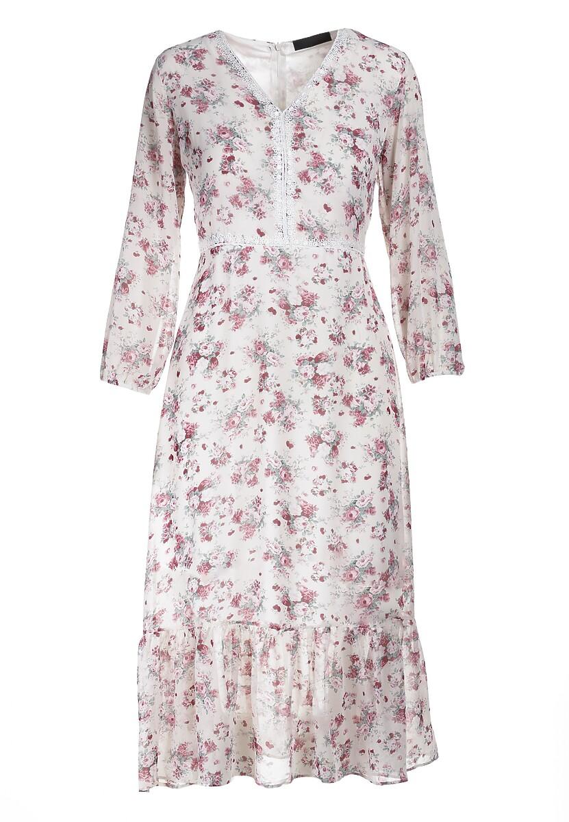 Biała Sukienka Abbott