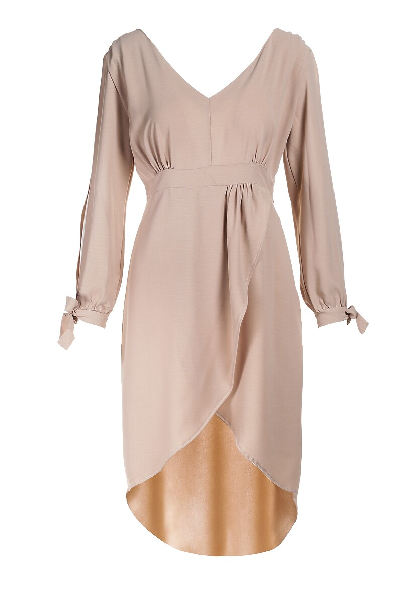 Jasnobeżowa Sukienka Cecilla