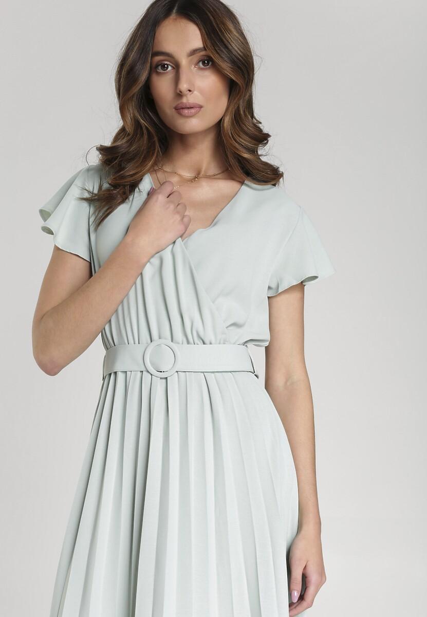 Miętowa Sukienka Sylvie