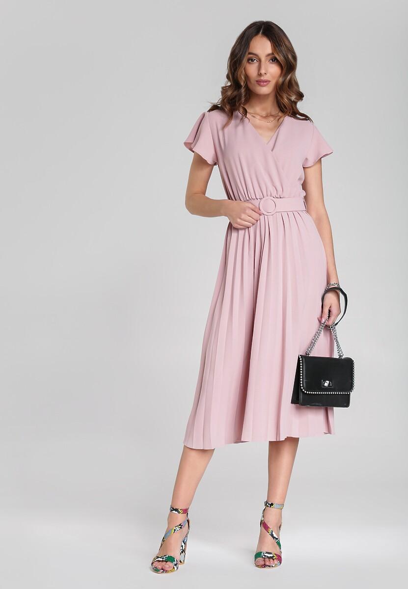 Jasnoróżowa Sukienka Sylvie