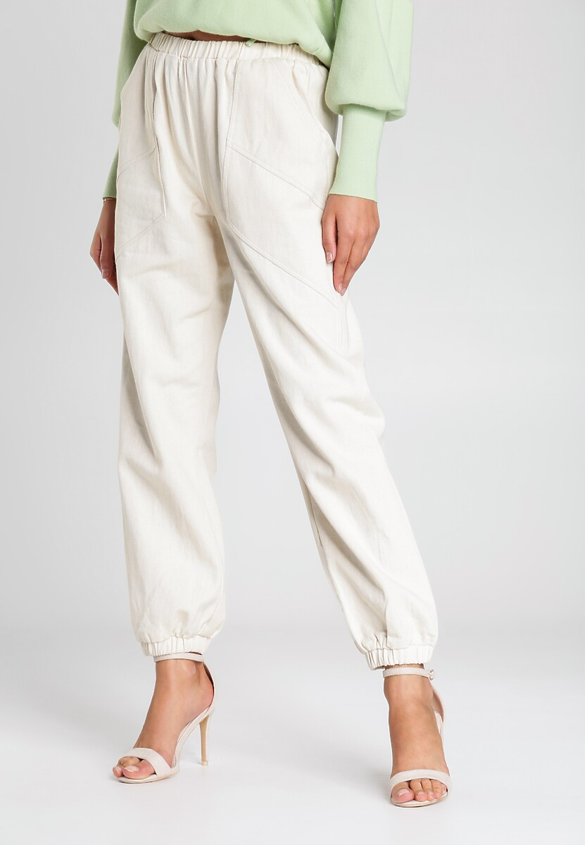 Beżowe Spodnie Dotson