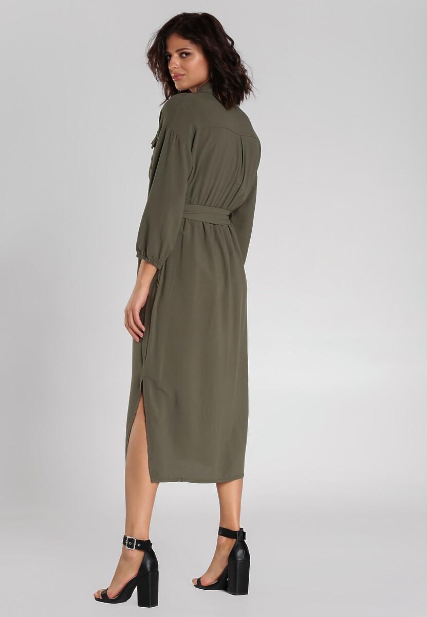Ciemnozielona Sukienka Curran