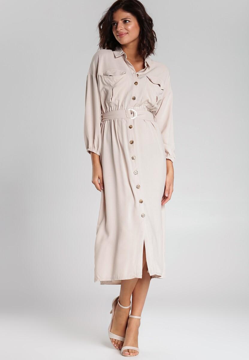 Jasnobeżowa Sukienka Curran