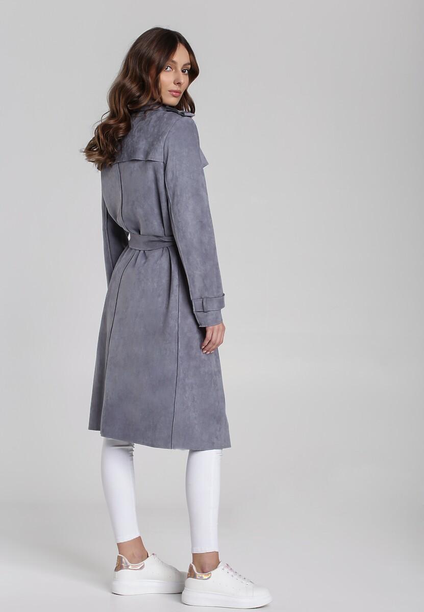 Płaszcz Zartex Rose klasyczny czarny zimowy