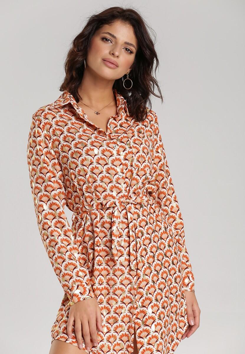 Łososiowa Sukienka Lawanda