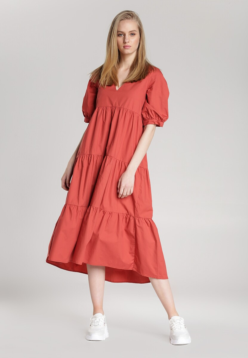 Koralowa Sukienka Schuyler