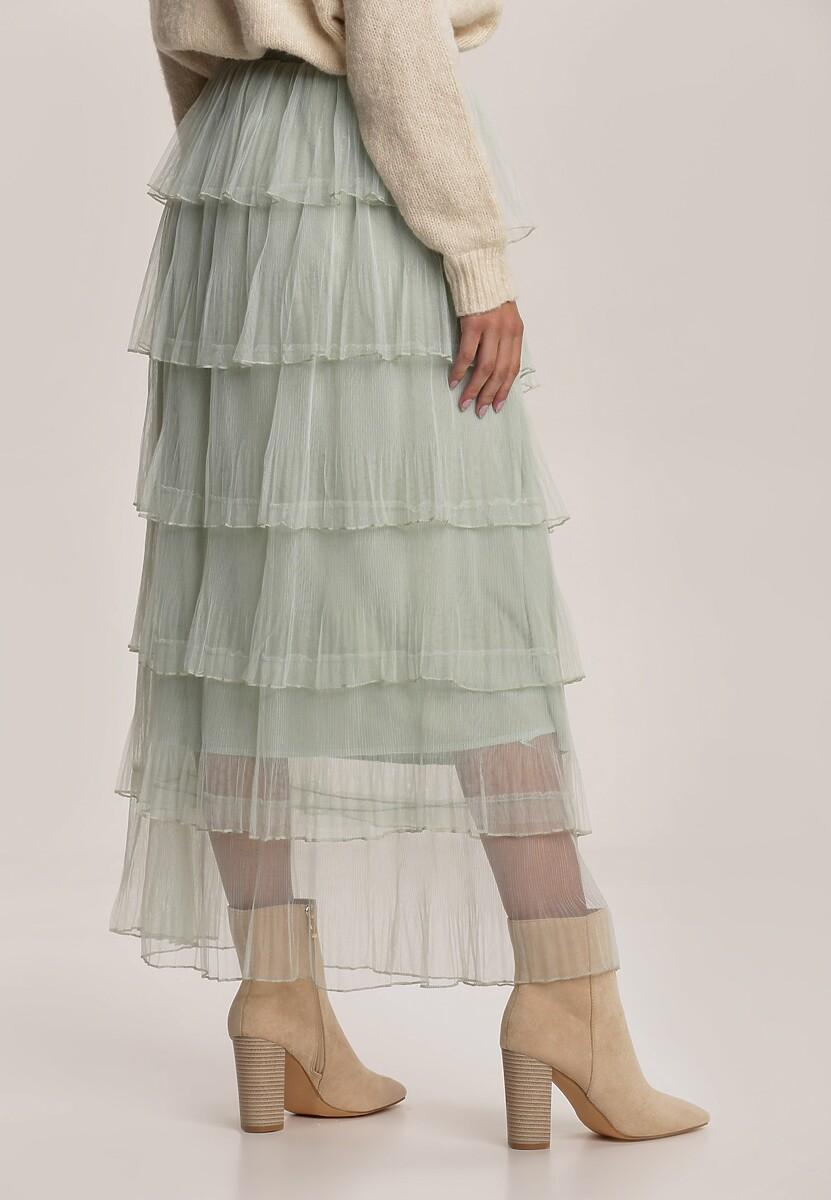 Miętowa Spódnica Thara