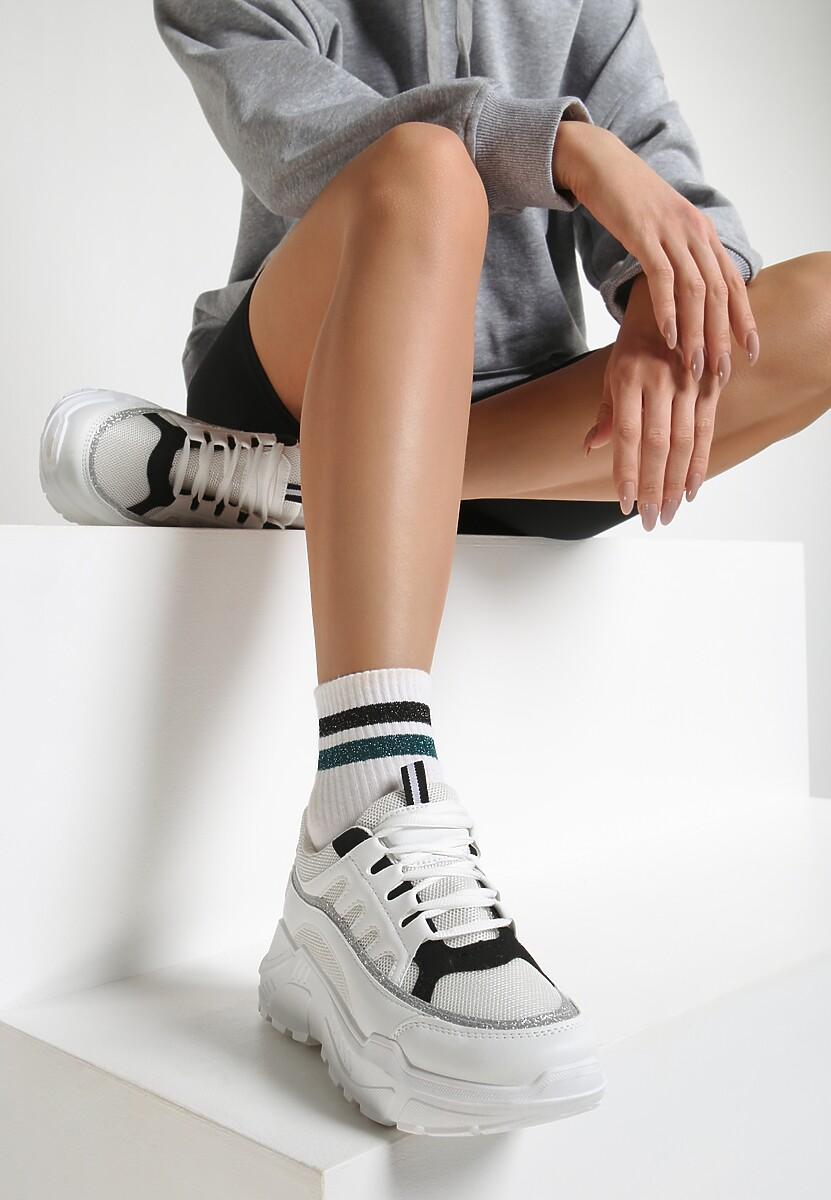 Biało Beżowe Buty Sportowe Northeaster