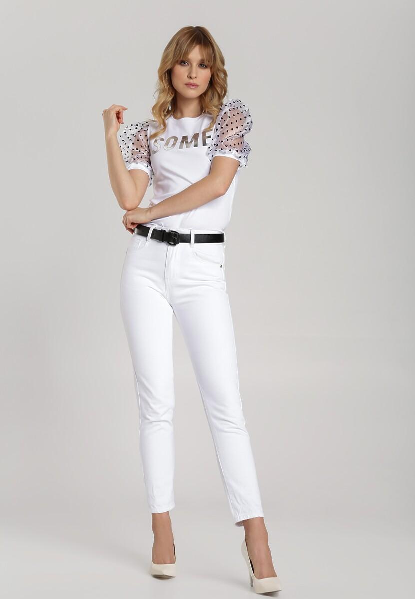 Biała Bluzka Leola