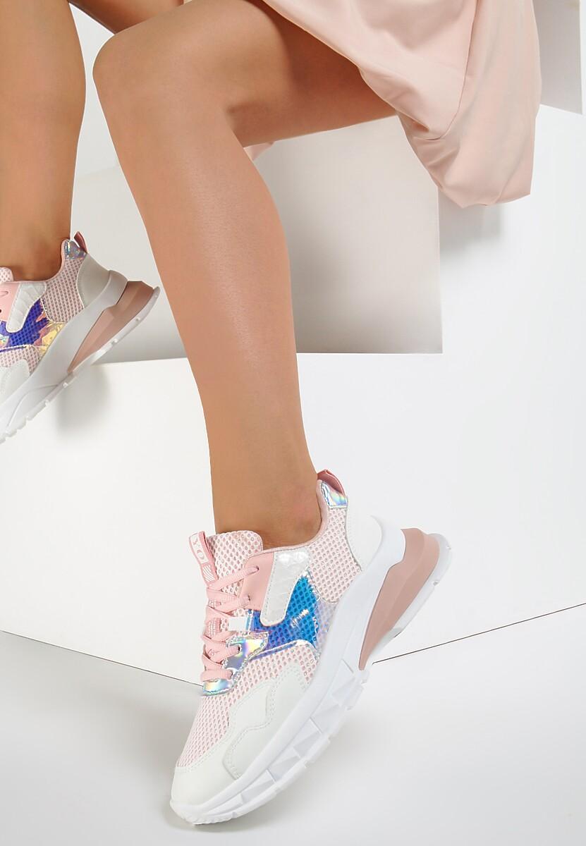 Różowe Sneakersy Evodine