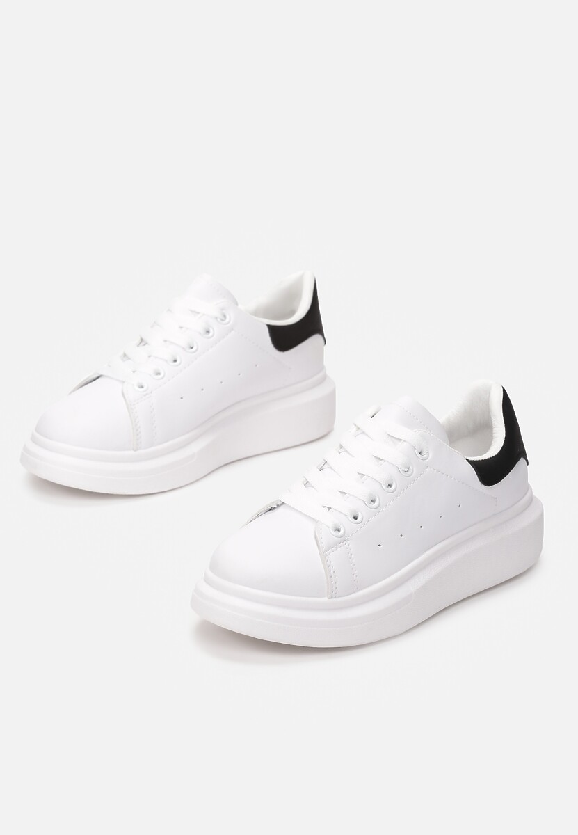 Biało-Czarne Sneakersy Brentisa