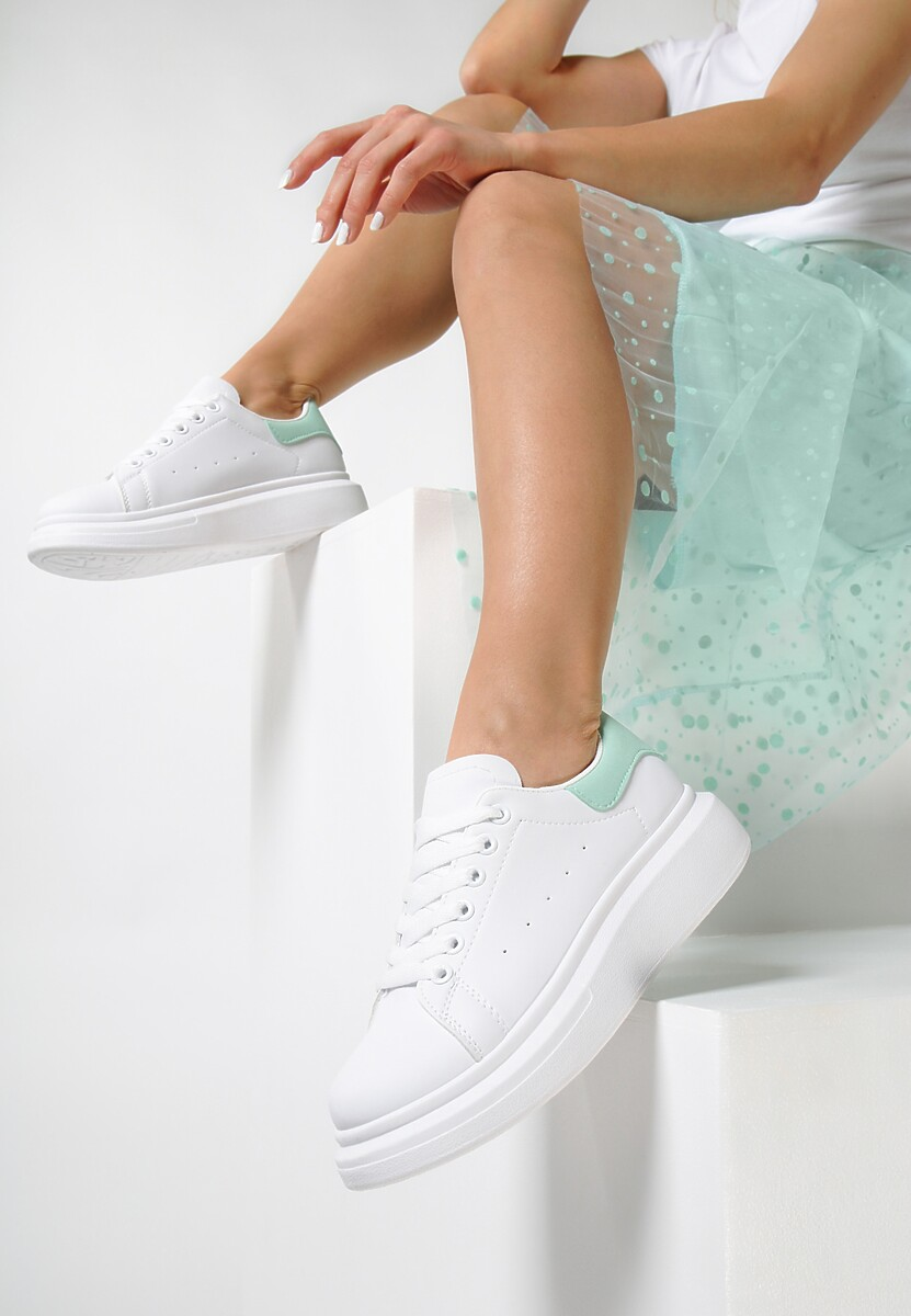 Biało-Zielone Sneakersy Brentisa