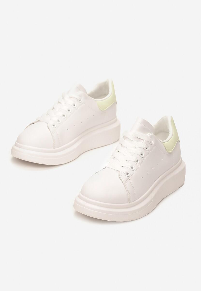 Biało-Żółte Sneakersy Brentisa
