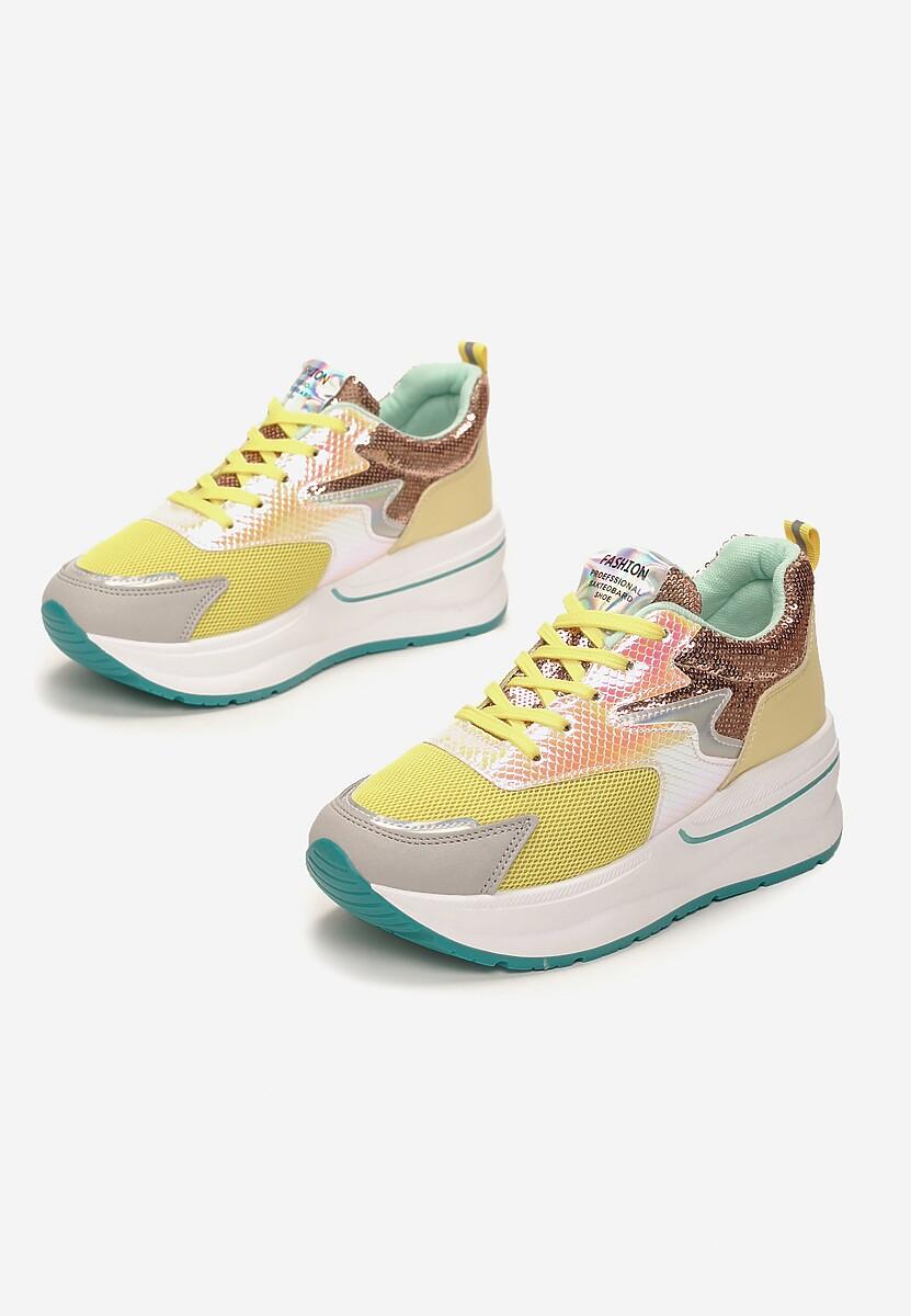 Żółte Sneakersy Axioche