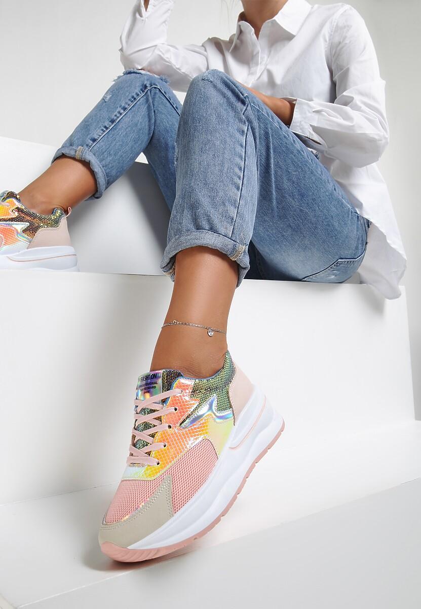 Różowe Sneakersy Axioche