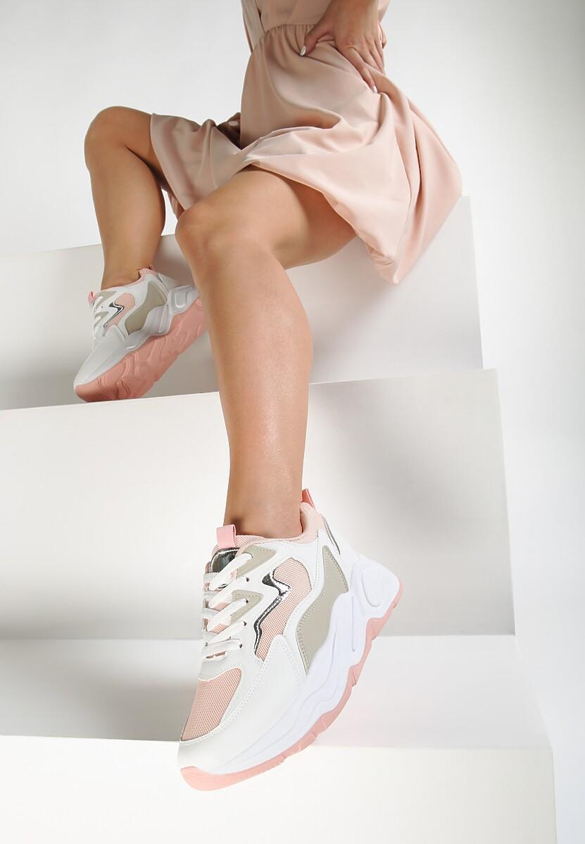 Różowe Sneakersy Helleori