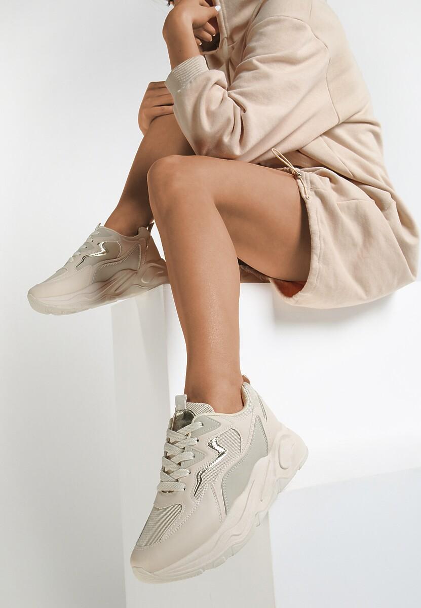 Beżowe Sneakersy Helleori