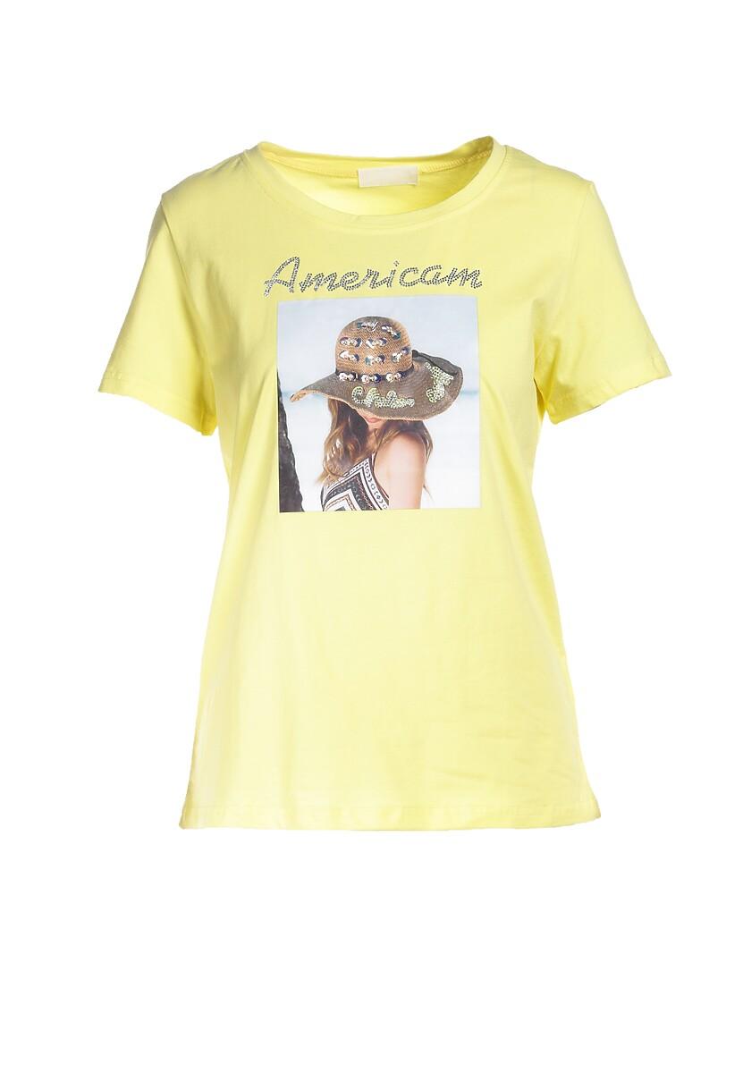 Żółty T-shirt Galene