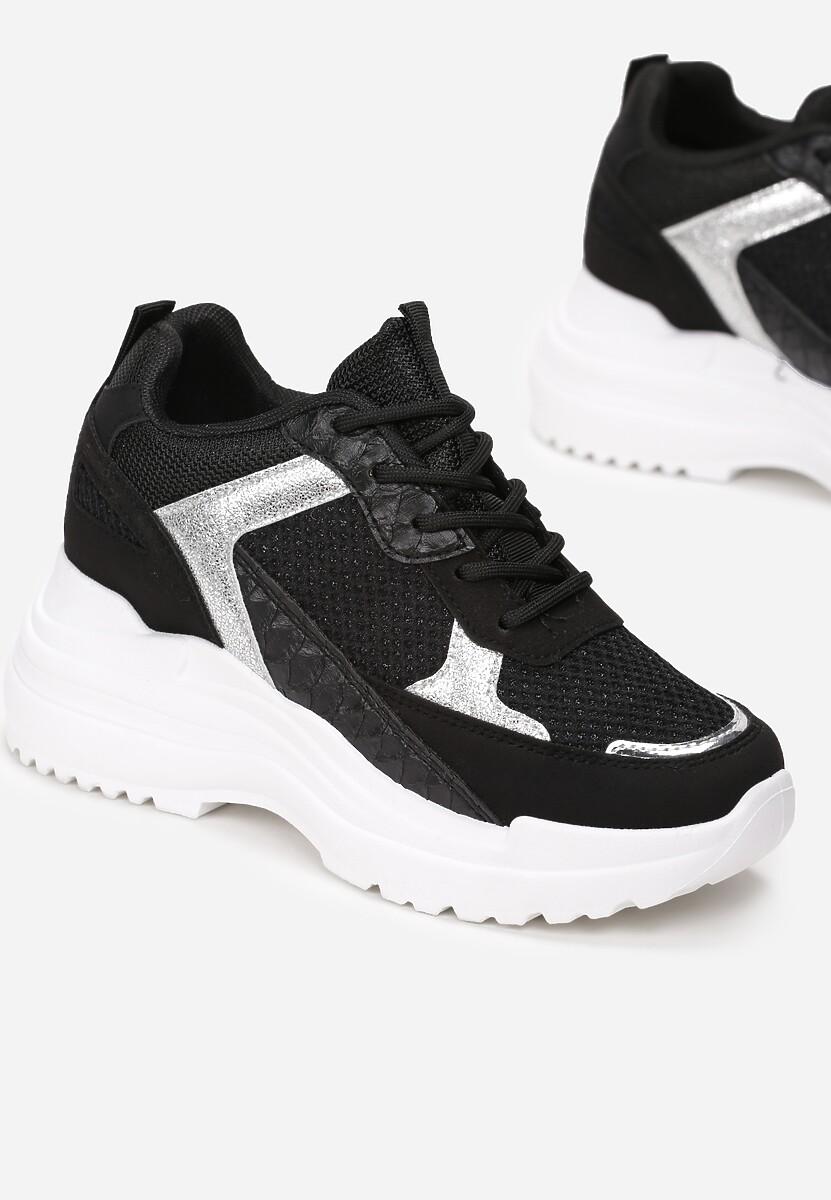 Czarne Sneakersy Klyphotise