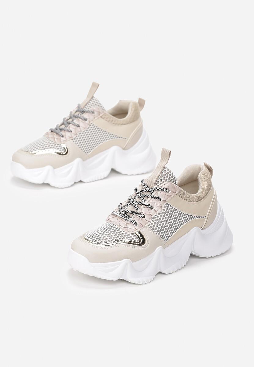 Beżowe Sneakersy Dorialina