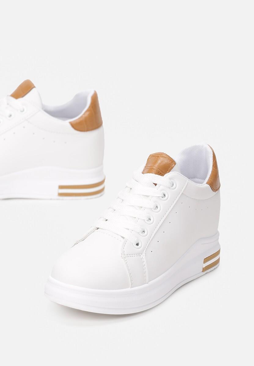 Biało-Camelowe Sneakersy Siniophe