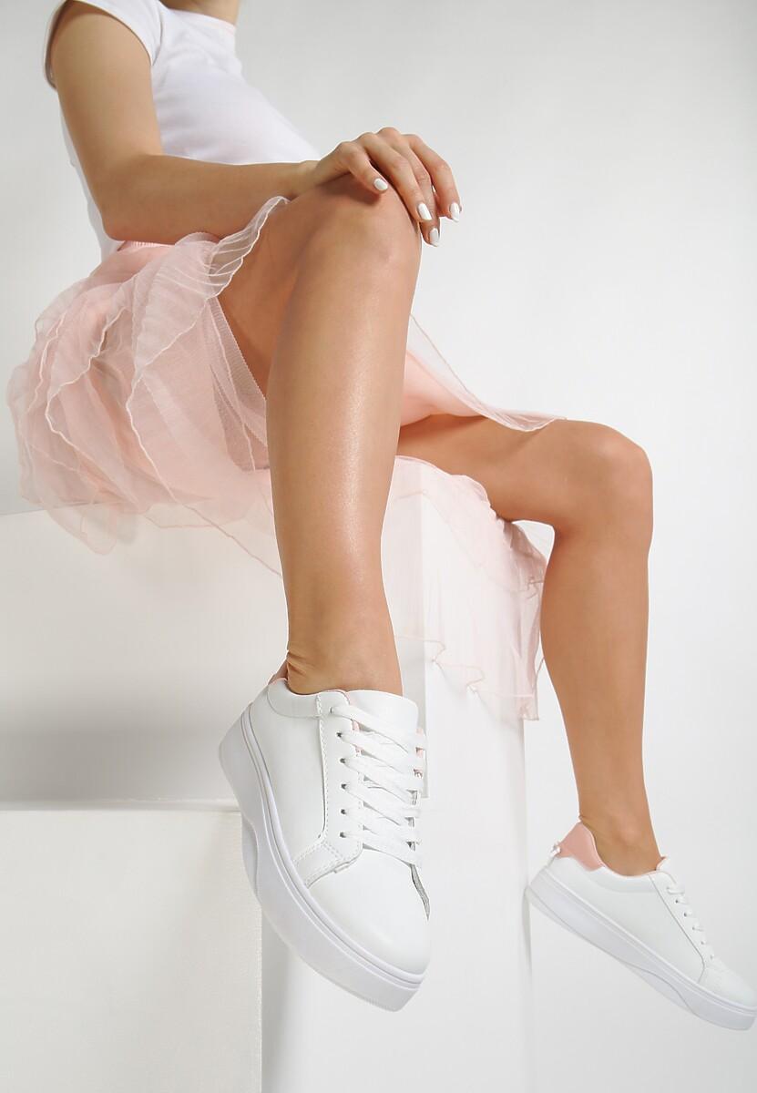 Biało-Różowe Sneakersy Heliteia