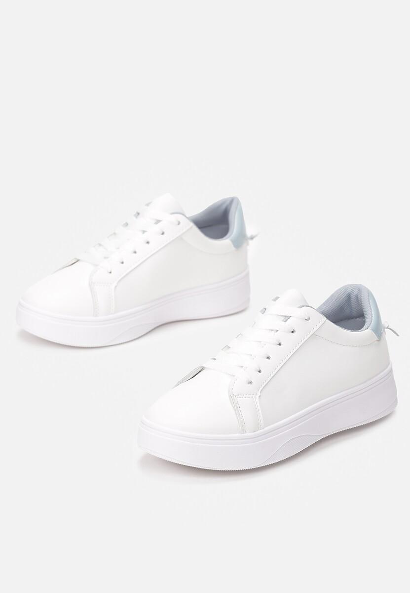 Biało-Niebieskie Sneakersy Heliteia