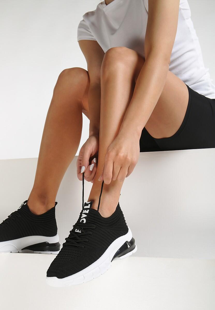 Czarne Sneakersy Oinone