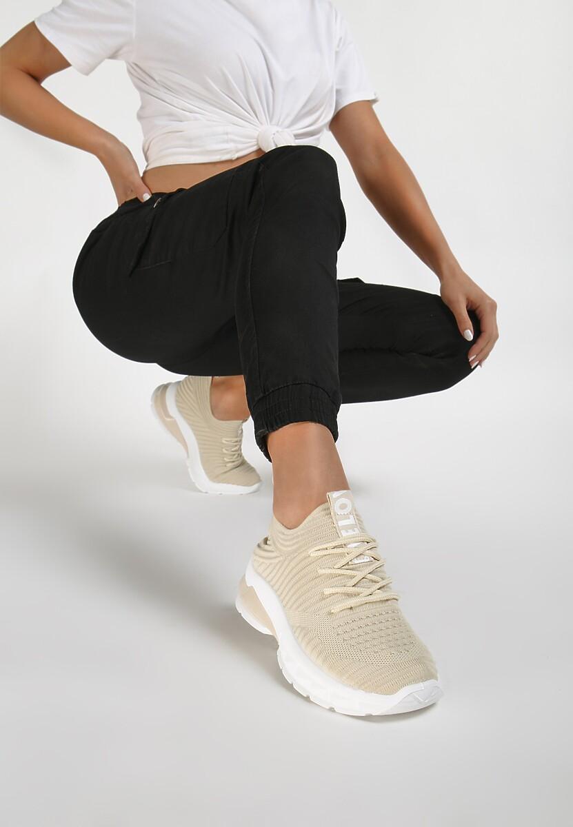 Beżowe Sneakersy Oinone