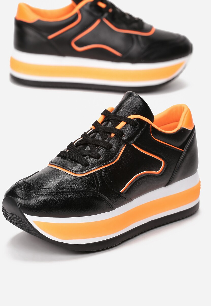 Czarne Sneakersy Orselise