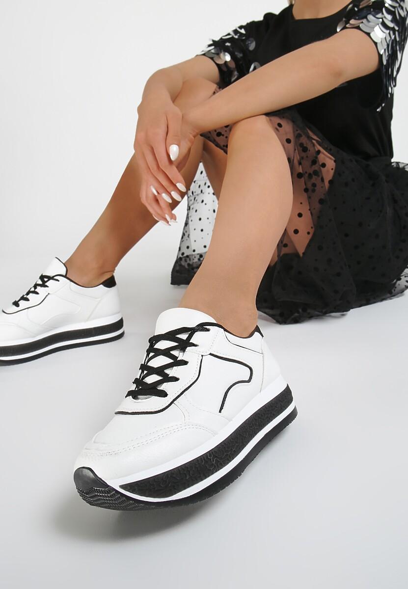 Biało Czarne Sneakersy Orselise