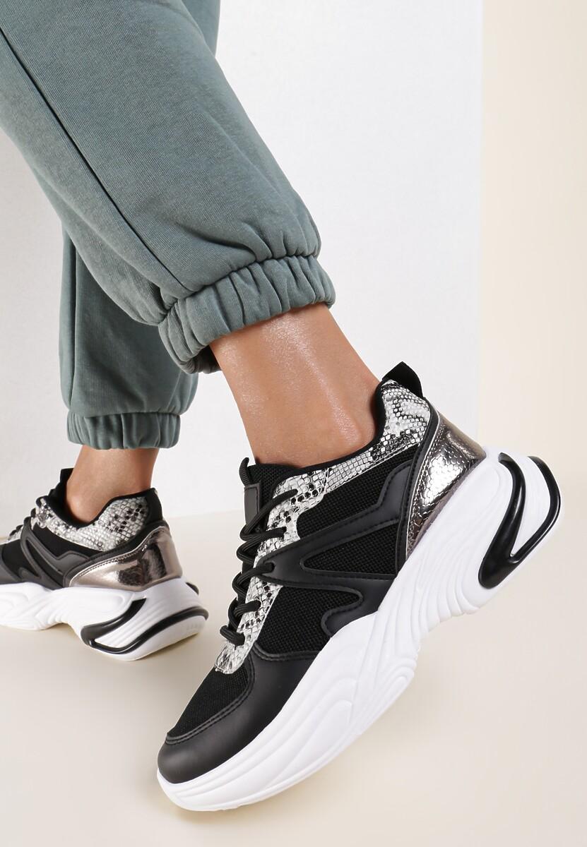 Czarne Sneakersy Salaphise