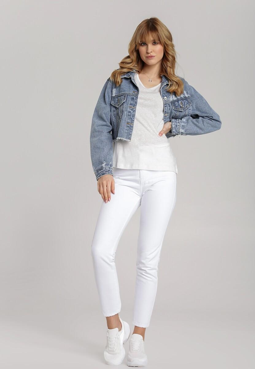 Biały T-shirt Menithoe