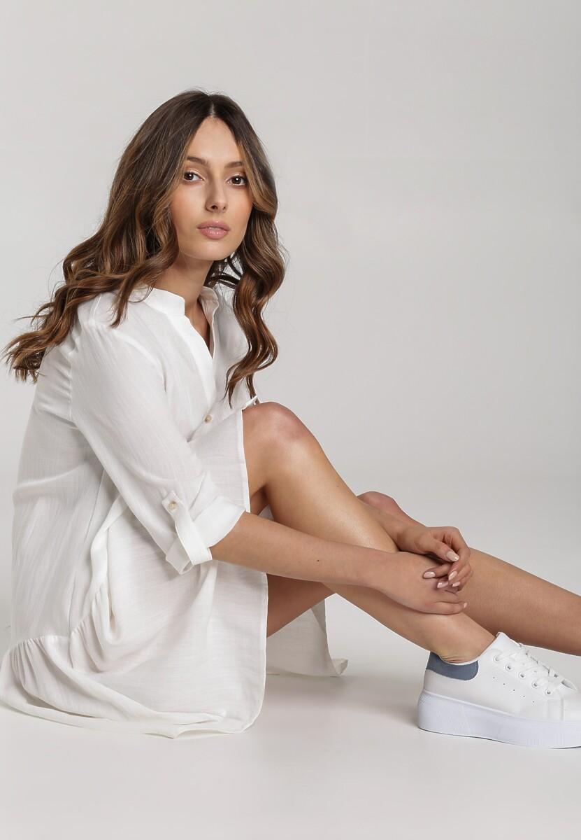 Biała Sukienka Brifer