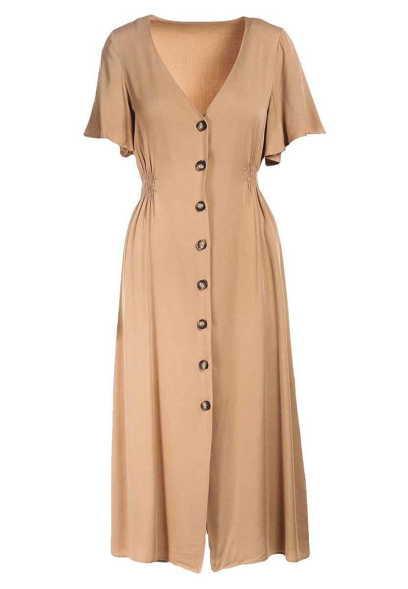 Beżowa Sukienka Jenierinda